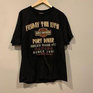 Clare's Harley Davidson Niagara Friday 13 T-Shirt